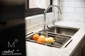 悠雅103平美式三居厨房案例图家装装修案例效果图