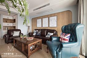 精选面积101平美式三居客厅装修设计效果图片