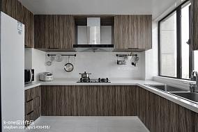 精美面积101平简约三居厨房装修设计效果图片欣赏