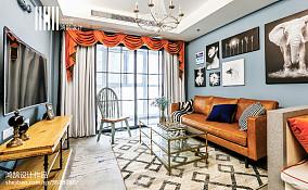 2018大小93平美式三居客厅装修设计效果图片大全三居美式经典家装装修案例效果图