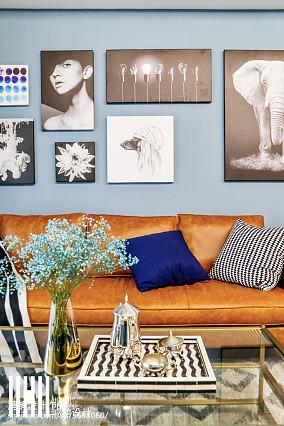 2018109平米三居客厅美式效果图片欣赏