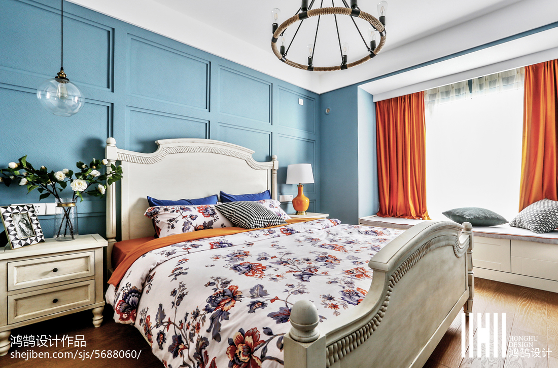 精选大小97平美式三居卧室装修设计效果图片大全卧室窗帘美式经典卧室设计图片赏析