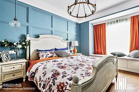 精选大小97平美式三居卧室装修设计效果图片大全三居美式经典家装装修案例效果图