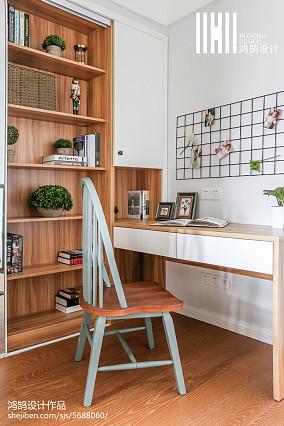 温馨106平美式三居书房设计效果图三居美式经典家装装修案例效果图