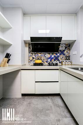 轻奢82平美式三居设计美图三居美式经典家装装修案例效果图