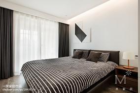 华丽80平北欧三居卧室效果图欣赏三居北欧极简家装装修案例效果图