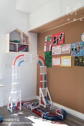 精美面积97平北欧三居儿童房装修设计效果图片大全三居北欧极简家装装修案例效果图