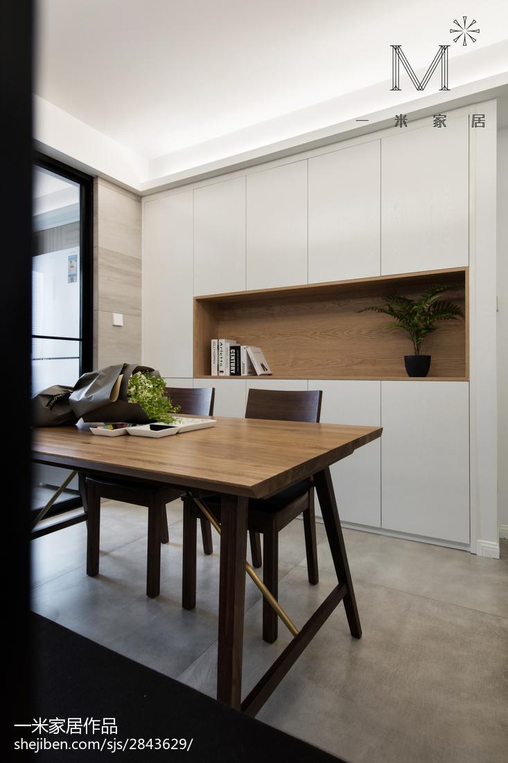 精选102平米三居餐厅北欧装修设计效果图片厨房门北欧极简餐厅设计图片赏析