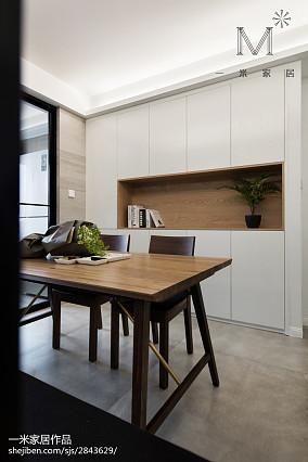 精选102平米三居餐厅北欧装修设计效果图片三居北欧极简家装装修案例效果图