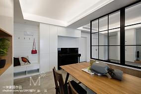 2018精选103平米三居餐厅北欧装修实景图片三居北欧极简家装装修案例效果图