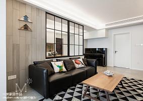 热门面积104平北欧三居客厅装修图片大全三居北欧极简家装装修案例效果图