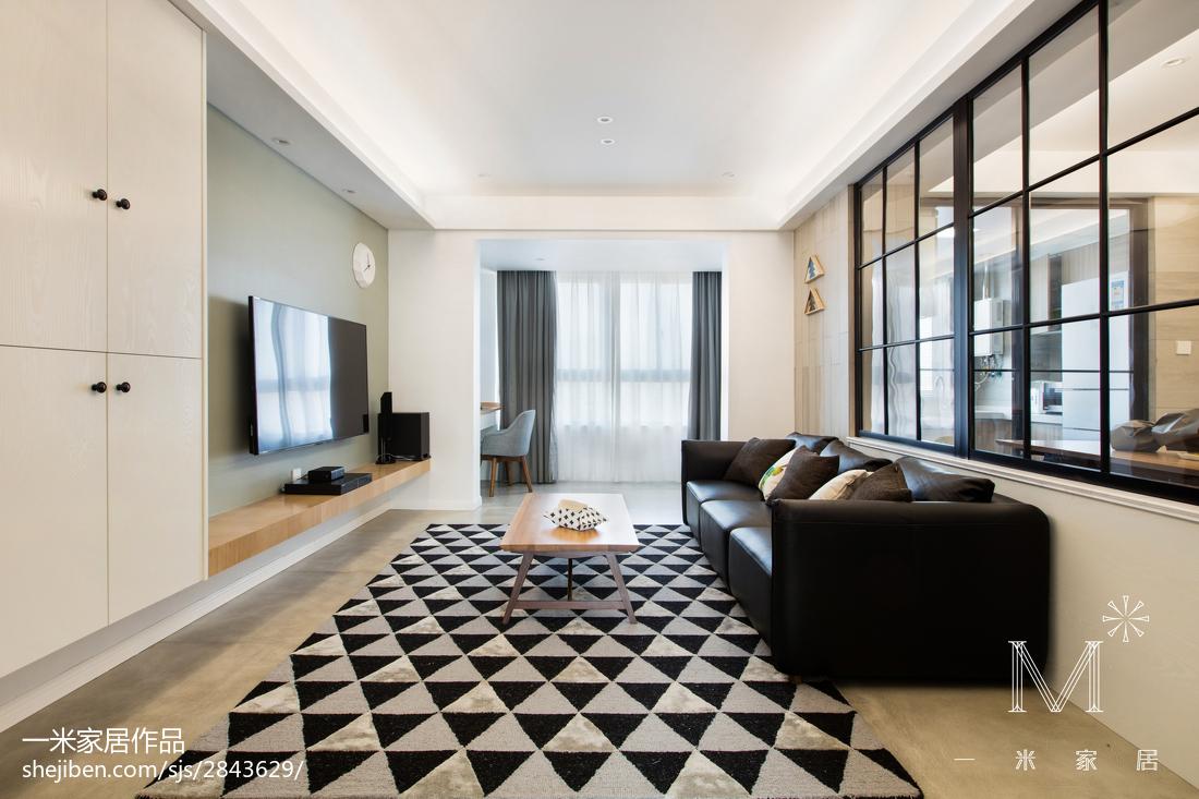 平米三居客厅北欧欣赏图三居北欧极简家装装修案例效果图