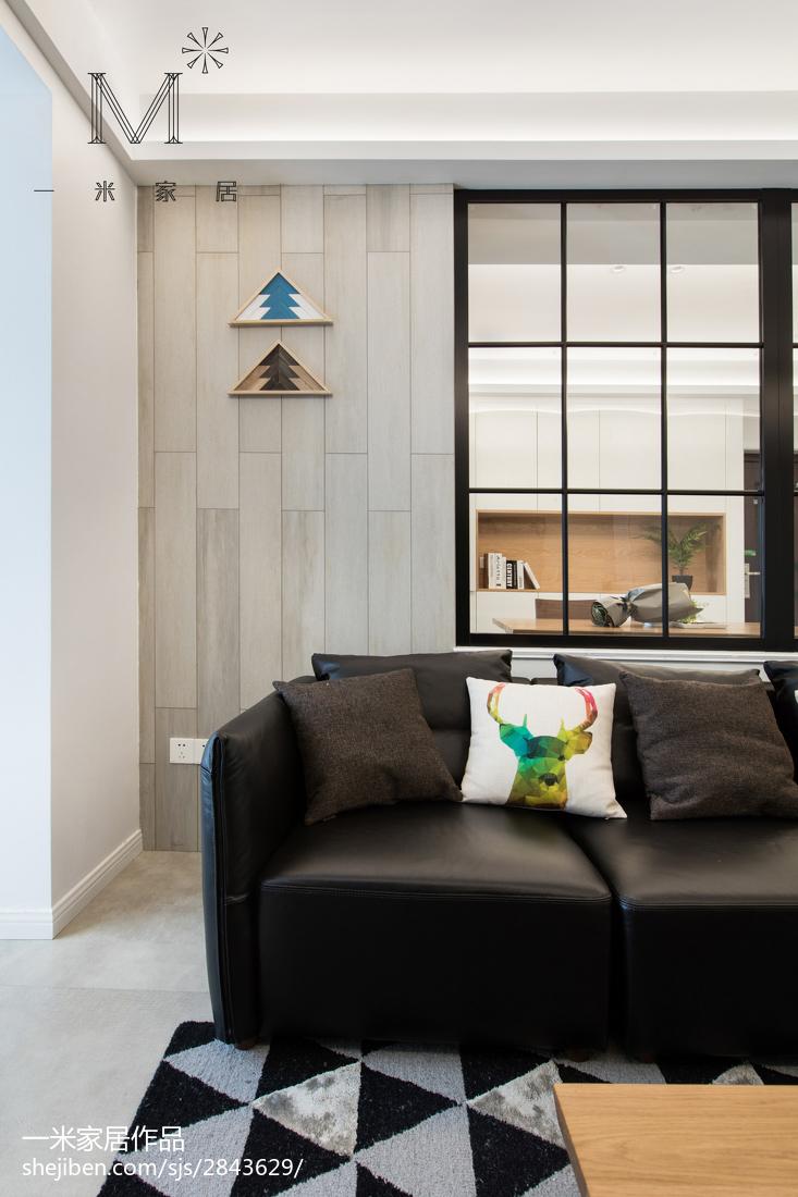 精美面积92平北欧三居客厅装修欣赏图片大全客厅