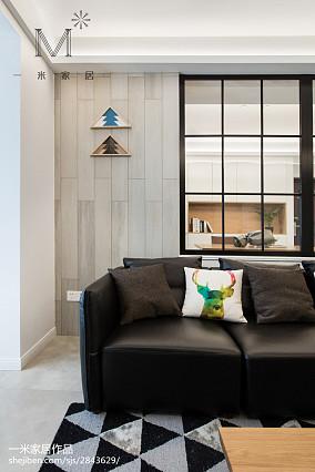 精美面积92平北欧三居客厅装修欣赏图片大全三居北欧极简家装装修案例效果图
