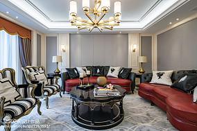 热门面积110平复式客厅欧式装修效果图片