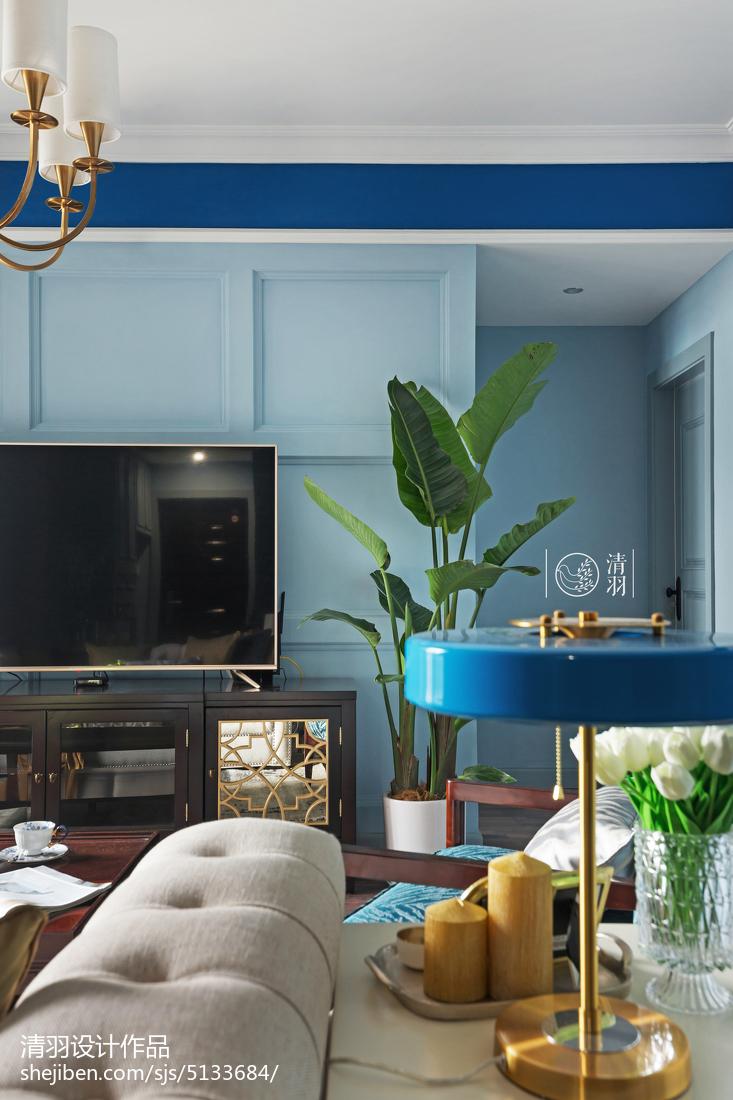 2018精选106平米三居客厅美式装修效果图片大全客厅