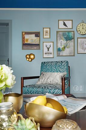 精美99平米三居客厅美式装修欣赏图片家装装修案例效果图