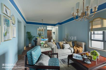 热门103平方三居客厅美式装修欣赏图客厅