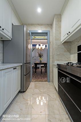 美式简洁厨房装修三居美式经典家装装修案例效果图