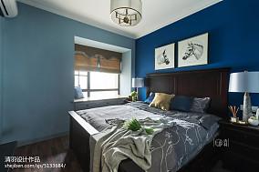 平米三居卧室美式装饰图片三居美式经典家装装修案例效果图