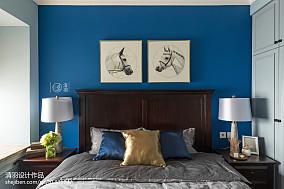 2018精选面积95平美式三居卧室装修效果图家装装修案例效果图