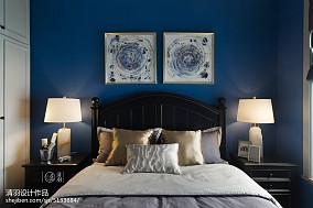 热门面积99平美式三居卧室装饰图三居美式经典家装装修案例效果图