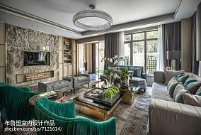 精美现代风格别墅客厅效果图