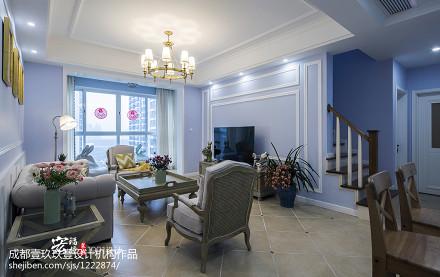 优雅51平法式二居客厅效果图客厅1图