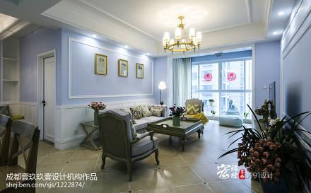 温馨85平法式二居客厅装修设计图客厅