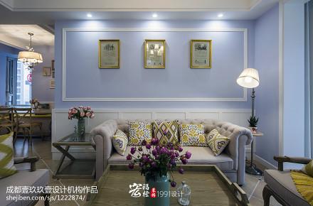 平法式二居客厅装修案例客厅2图