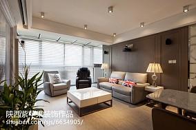 精美面积103平现代三居客厅装饰图