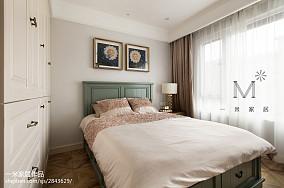 悠雅120平美式三居设计效果图三居美式经典家装装修案例效果图
