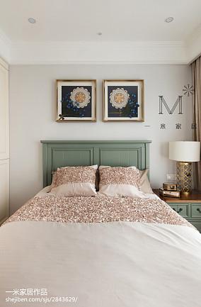2018精选94平米三居卧室美式欣赏图片三居美式经典家装装修案例效果图