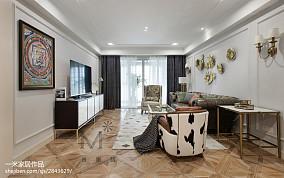 轻奢104平美式三居实景图三居美式经典家装装修案例效果图