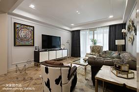 平美式三居设计案例三居美式经典家装装修案例效果图