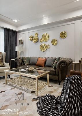 精美98平美式三居效果图片大全三居美式经典家装装修案例效果图