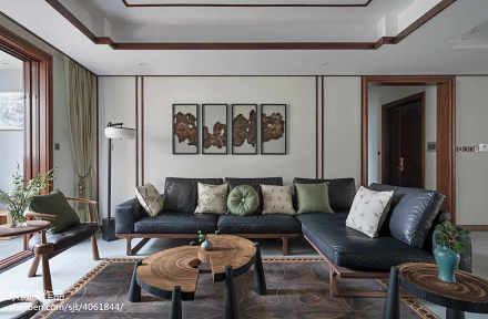 精美127平米四居客厅中式装修效果图片大全