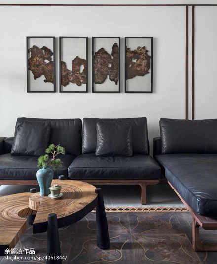 精美131平米四居客厅中式装修设计效果图