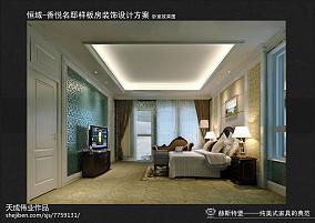 灰色格调电视背景墙设计效果图