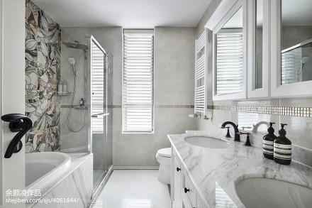 简洁混搭风卫浴设计卫生间