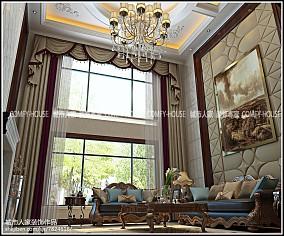 精选大小121平别墅客厅欧式效果图片