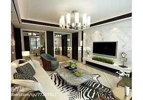 精美面积121平现代四居装修图片大全