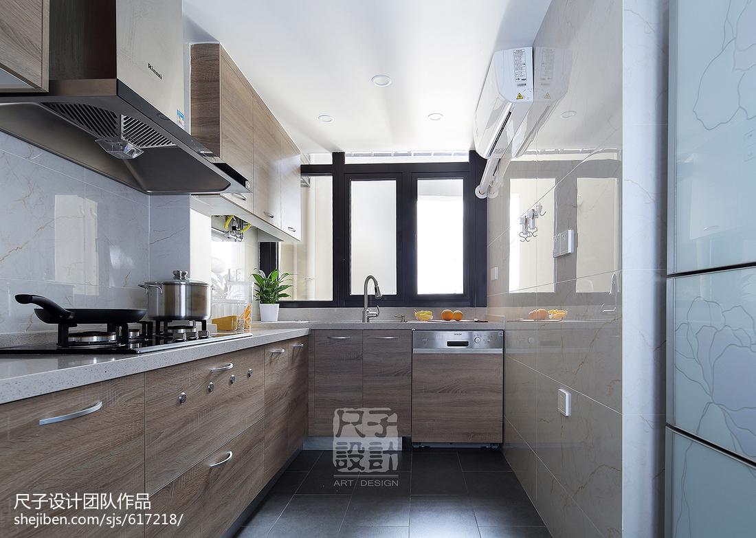89㎡温馨现代简约风厨房设计图