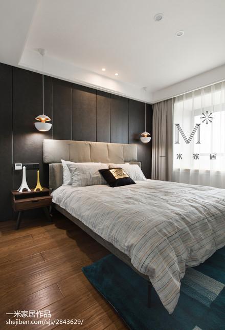2018精选大小105平现代三居卧室设计效果图