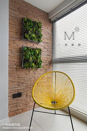 热门面积98平现代三居阳台效果图片