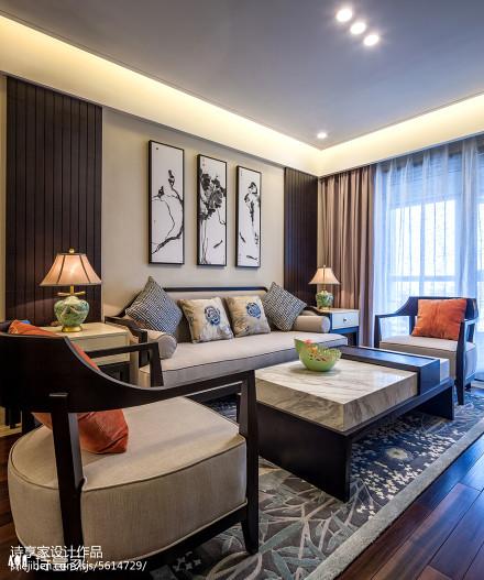 诗享家设计——华灯初 · 尚_2652786二居中式现代家装装修案例效果图