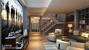 2018精选123平米简欧别墅客厅装修设计效果图片大全