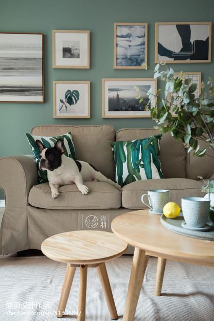 热门74平米北欧小户型客厅装修实景图片大全一居北欧极简家装装修案例效果图