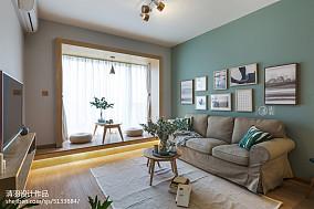 热门小户型客厅北欧装修欣赏图片一居北欧极简家装装修案例效果图