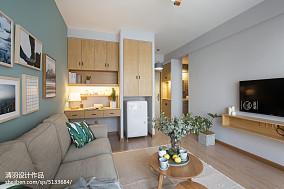 2018精选面积88平小户型客厅北欧效果图